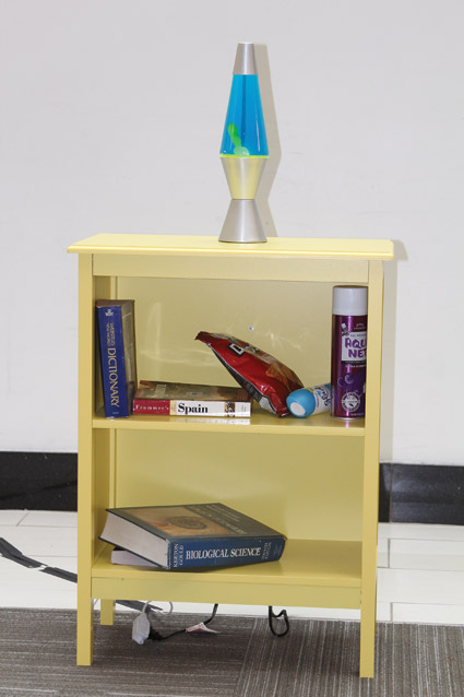 On the bookshelf: Hairspray and books can be used to conceal or store substances. Air fresheners could be used to mask drug-related odors.